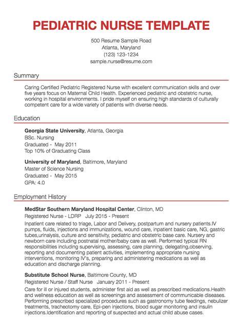 30 nursing resume exles sles written by rn managers resume com