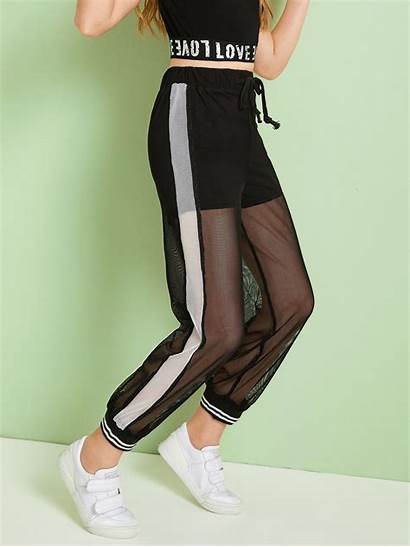 Shein Pants Leggings Teen Outfits Mesh Fishnet
