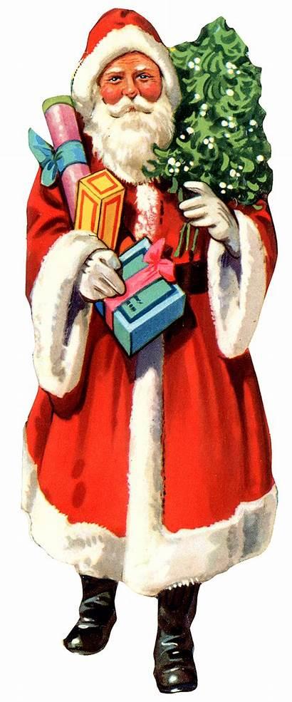Santa Christmas Claus Clipart Tree Father Xmas