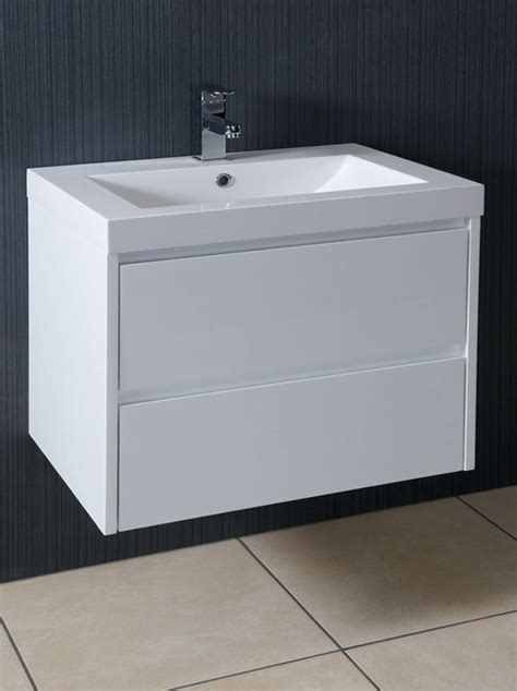 600mm wall hung vanity unit galloway 600mm wall hung vanity unit and basin gloss white