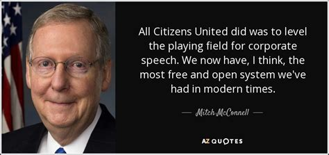 mitch mcconnell quote  citizens united