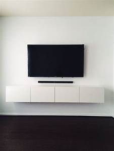 Ikea Best U00c5 Media Console  Mounted Tv With Hidden Wires