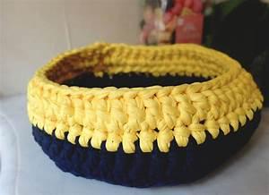 Corbeille Au Crochet : une corbeille au crochet la polygraphe ~ Preciouscoupons.com Idées de Décoration