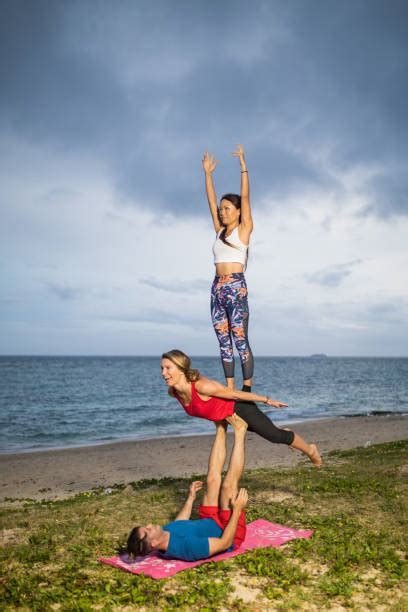 yoga challenge   stock  pictures royalty