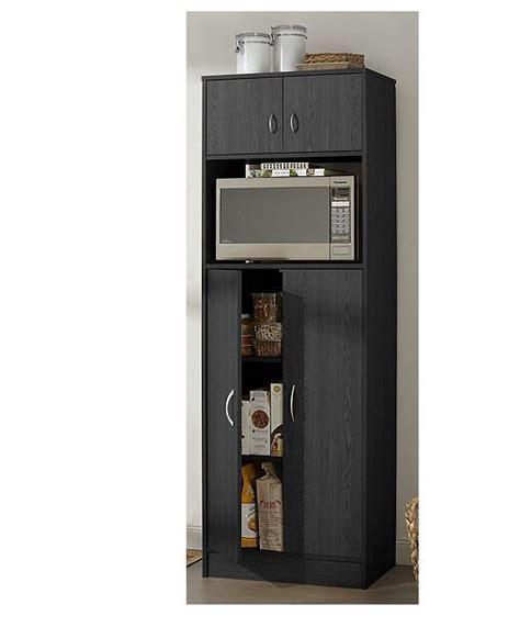 alcove Microwave Pantry  Black   SOTA Surplus Auction #4