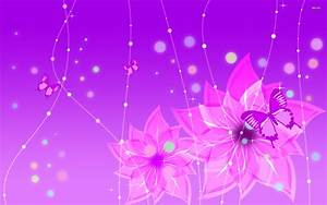 Purple flowers and butterfies wallpaper - Vector ...