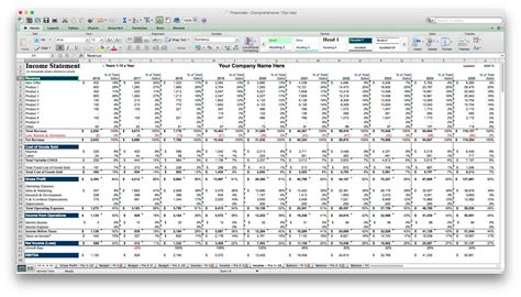 5 Year Business Plan Template Excel