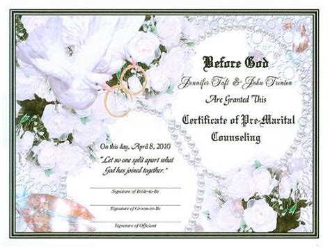 certificate templates  marriage vow renewal party