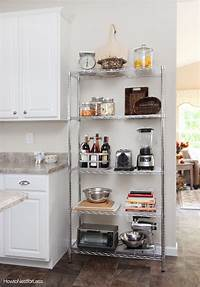 kitchen storage units Kitchen Industrial Shelving - How to Nest for Less™