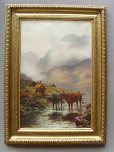 antiques atlas henry robinson hall oil painting highland