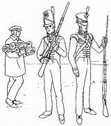 Soldiers Coloring Fort Atkinson British Soldado Colorir Soldier Dia Template Uniforms Sketch 1814 1821 Around sketch template