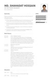senior software developer resume format senior software engineer cv beispiel visualcv lebenslauf muster datenbank