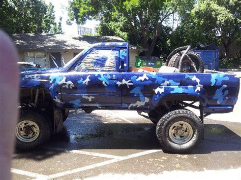 Blue Camo Paint Job