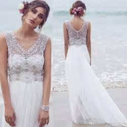 brautkleid strand discount cbell bohemian wedding dresses designer 2017 v neck crystals beaded cheap