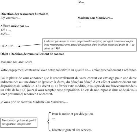 modèle lettre de démission contractuel fonction publique covering letter exle