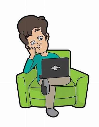 Bored Computer Cartoon Svg Using 2000px Pixels