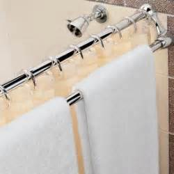 towels shower curtain rods and towel racks on