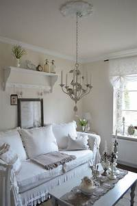 cottage chic decor Cool Shabby-Chic Style Living Room Design