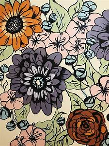 Floral, Mural, On, Behance