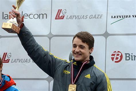 Šteinbergs uzvar Siguldas trasē EK posmā skeletonā - Valmieras Ziņas