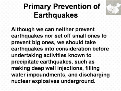 Avoidance Of Construction In Areas Of High Seismic Risk