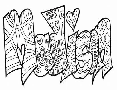 Coloring Madison Printable Adult Inspirations Names Word