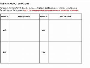 Answered  Part V  Lewis Dot Structures For Each U2026