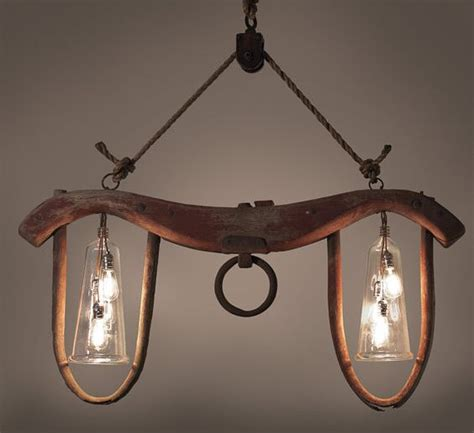 ox yoke repurposed     kind chandelier  cool