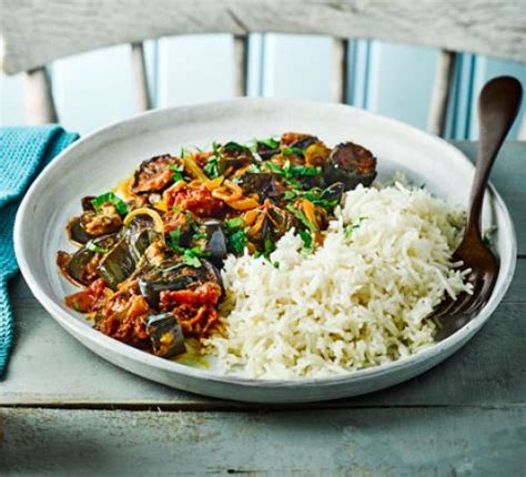 roasted aubergine tomato curry recipe good food