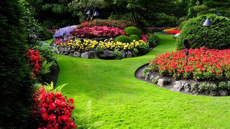 花园,草坪,绿色树林,鲜花,自然图片,风景桌面壁纸高清大图预览1920x1080_风景壁纸下载_彼岸桌面