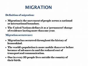 Causes Of Migration IB SL. - ppt video online download