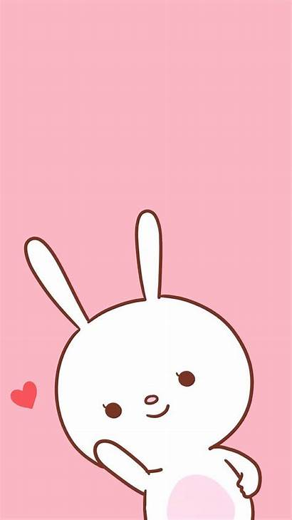 Kawaii Wallpapers Iphone Pink Cartoon Bunny Backgrounds