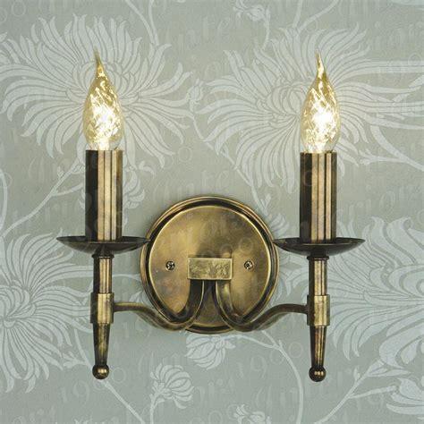stratton antique brass wall light