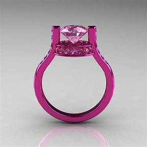 modern italian 14k pink gold 15 ct light pink sapphire With light pink wedding rings