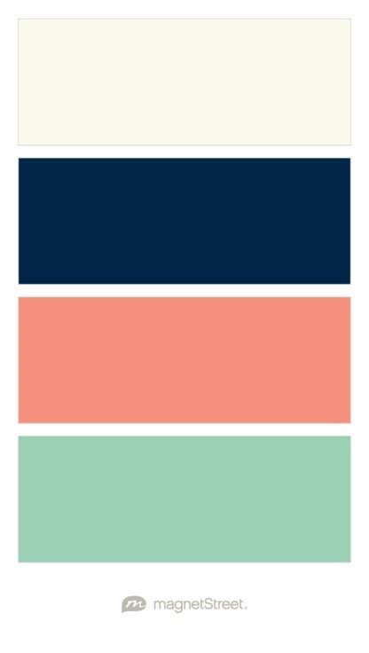 ivory navy coral  mint    wedding  include