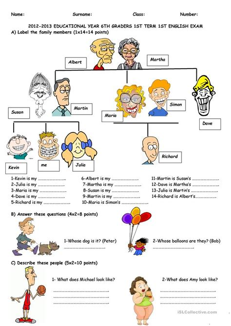 exam   graders worksheet  esl printable