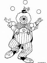 Clown Coloring Jester Female Printable Template sketch template