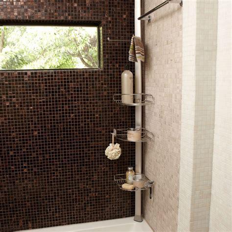 meubles de cuisine bas etagère de d 39 angle à tension en métal chromé et