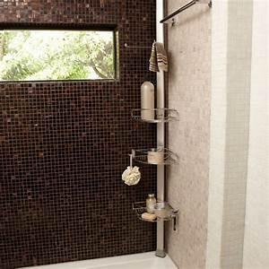 Étagère De Douche : etag re de douche d 39 angle tension en inox et aluminium ~ Voncanada.com Idées de Décoration