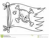 Pirate Flag Coloring Pirata Printable Piratenflagge Bandera Zeerover Vlag Template Cartoon Bandiera Roger Caricatura Sheets Spotprent Stockfotos Lizenzfreie Skull Sketch sketch template