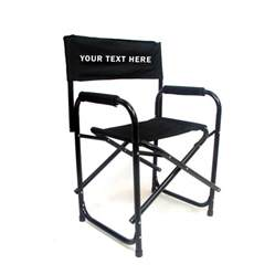 imprinted all aluminum 18 inch directors chair custom