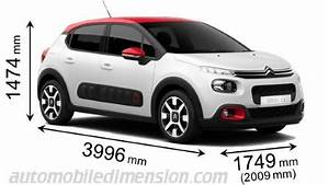 C3 Air Cross Dimensions : dimensions of citro n cars showing length width and height ~ Medecine-chirurgie-esthetiques.com Avis de Voitures