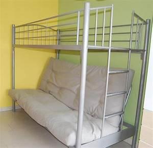 Hochbett Aus Metall : verkauft wird ein sehr praktisches hochbett mit klappsofa unten ma e ca lxtxh 210x110x170 cm ~ Frokenaadalensverden.com Haus und Dekorationen