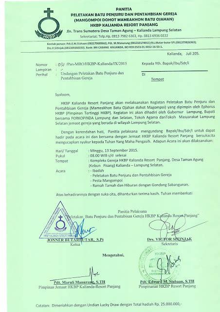 contoh surat undangan resmi gereja surat