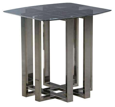 black metal end table hashtag black chrome metal glass top end table from