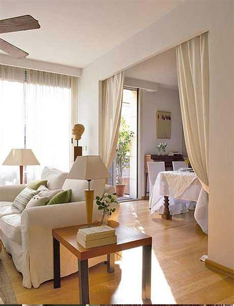 cortina  dividir sala de estar apartamento en