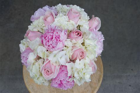 pink  white wedding flowers stadium flowers