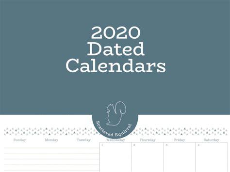 dated  calendars  ready planner calendar