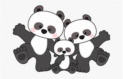 Panda Clipart Cartoon Clip Animated Pandas Anime