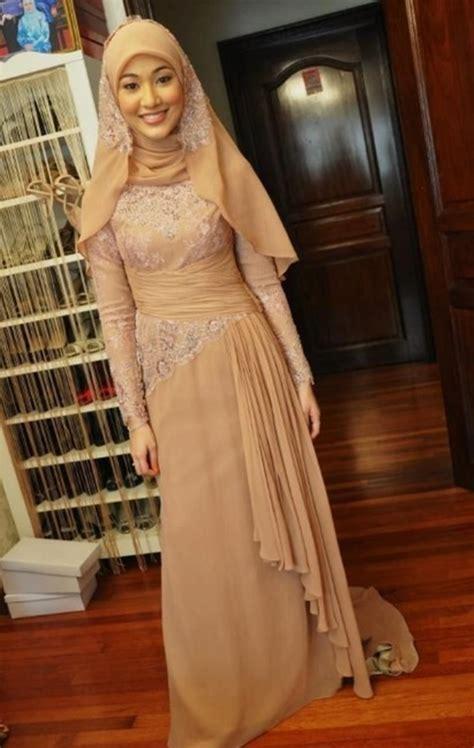 model baju pengantin syari  penuh inspirasi